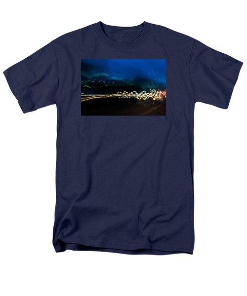 Car Light Trails At Dusk In City Men's T-Shirt  (Regular Fit) by John Williams