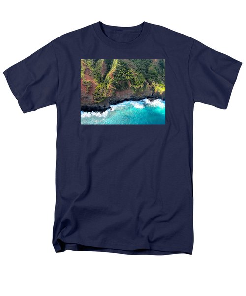 Men's T-Shirt  (Regular Fit) featuring the photograph Cascading To The Sea by Brenda Pressnall