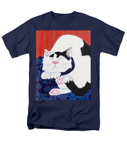 Cat I - Asleep Men's T-Shirt  (Regular Fit) by Leela Payne