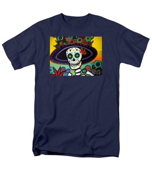 Men's T-Shirt  (Regular Fit) featuring the painting Catrina by Pristine Cartera Turkus