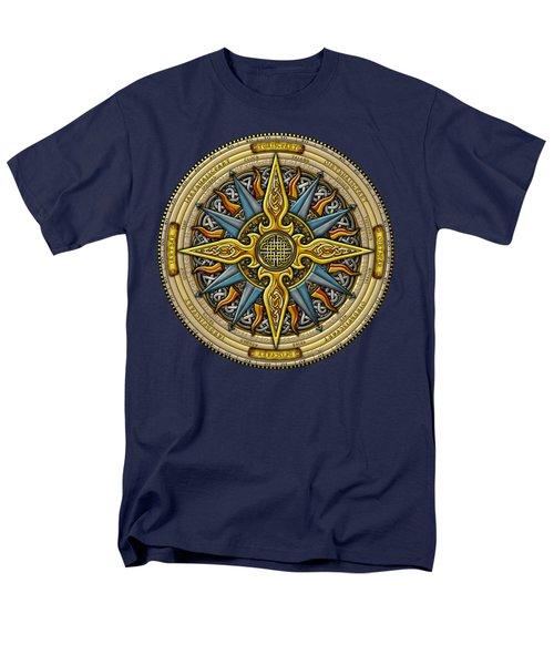 Celtic Compass Men's T-Shirt  (Regular Fit) by Kristen Fox