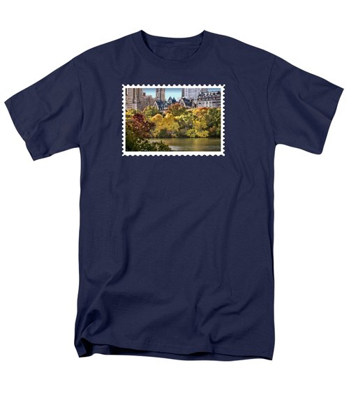 Central Park Lake In Fall Men's T-Shirt  (Regular Fit) by Elaine Plesser