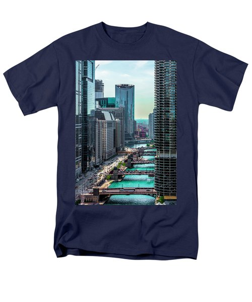Chicago River From Londonhouse Chicago Dsc2290 Men's T-Shirt  (Regular Fit) by Raymond Kunst