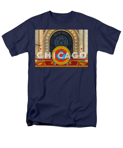 Chicago Theatre Sign Dsc2176 Men's T-Shirt  (Regular Fit) by Raymond Kunst