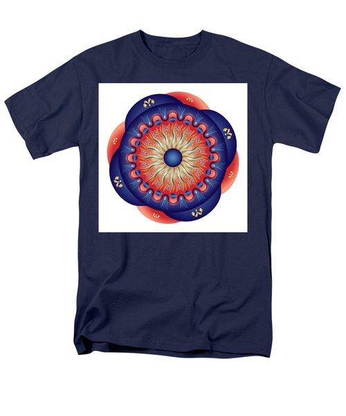 Men's T-Shirt  (Regular Fit) featuring the digital art Circularium No 2655 by Alan Bennington