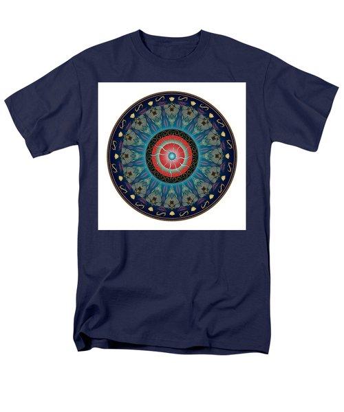 Men's T-Shirt  (Regular Fit) featuring the digital art Circularium No 2661 by Alan Bennington