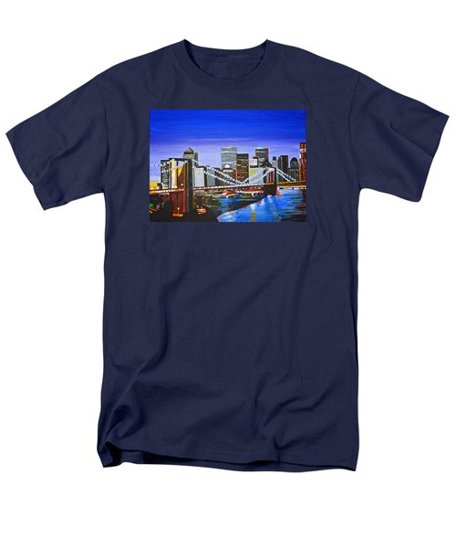 City At Twilight Men's T-Shirt  (Regular Fit) by Donna Blossom