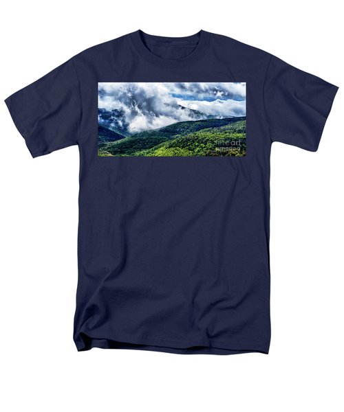 Men's T-Shirt  (Regular Fit) featuring the photograph Clearing Storm Highland Scenic Highway by Thomas R Fletcher