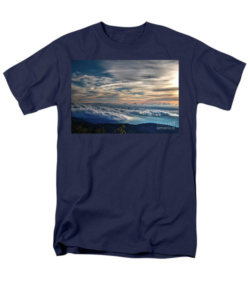 Men's T-Shirt  (Regular Fit) featuring the photograph Clouds Over The Smoky's by Douglas Stucky