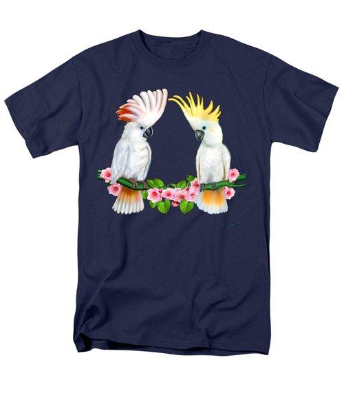 Cockatoo Courtship Men's T-Shirt  (Regular Fit) by Glenn Holbrook