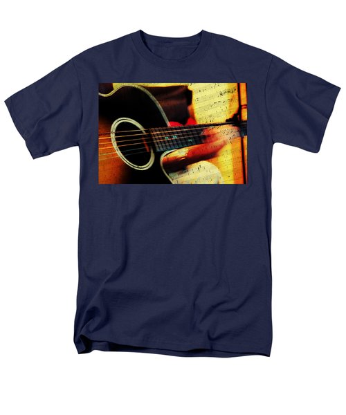 Composing Hallelujah. Music From The Heart  Men's T-Shirt  (Regular Fit) by Jenny Rainbow