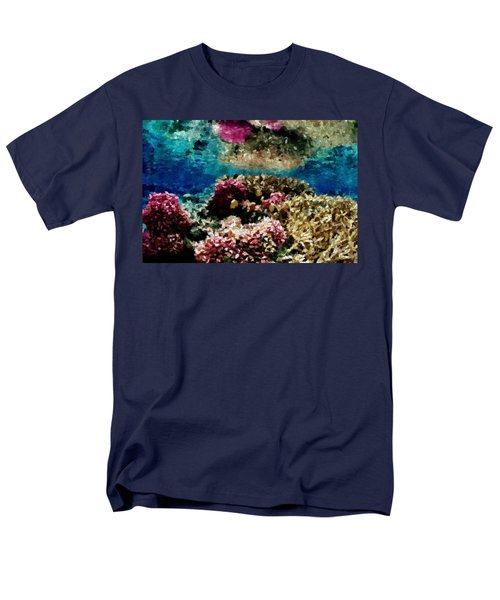 Coral Reef Men's T-Shirt  (Regular Fit) by Carol Crisafi