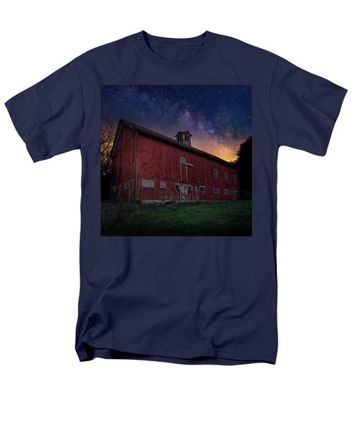 Men's T-Shirt  (Regular Fit) featuring the photograph Cosmic Barn Square by Bill Wakeley