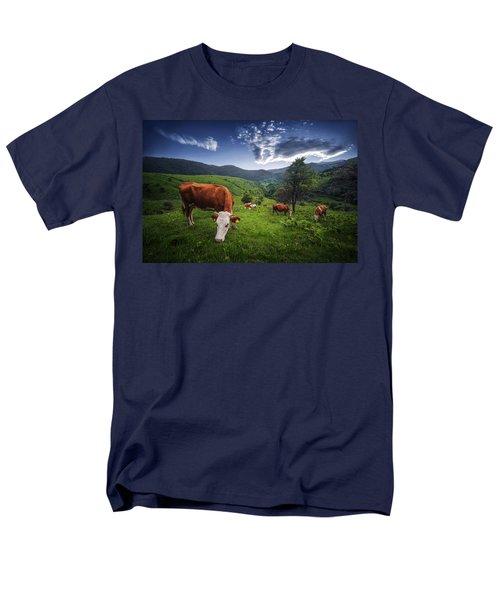 Cows Men's T-Shirt  (Regular Fit) by Bess Hamiti