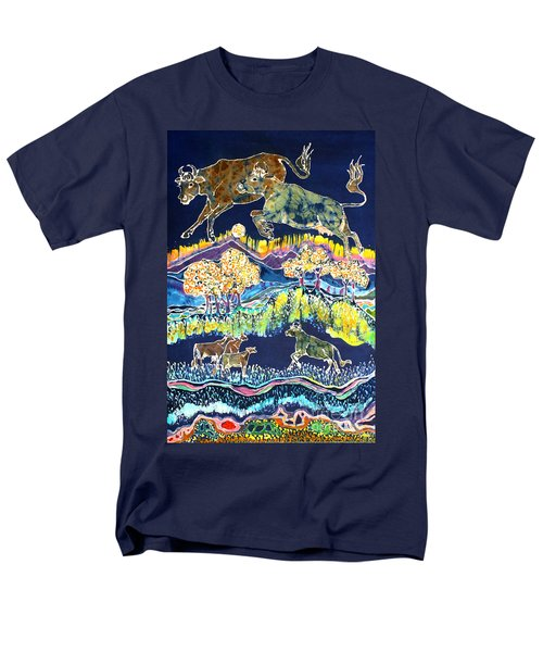 Cows Jumping Over The Moon Men's T-Shirt  (Regular Fit)
