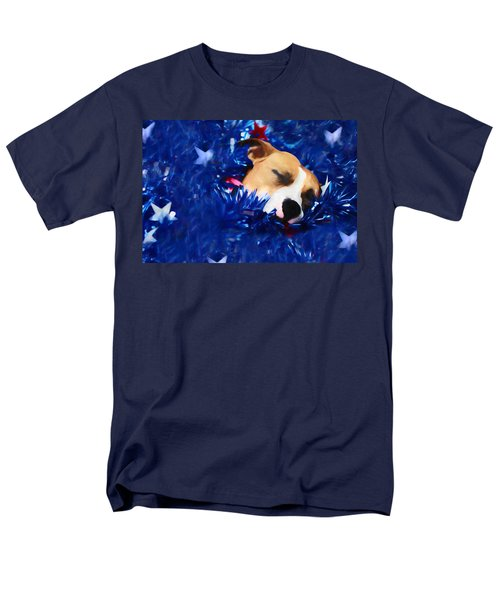 Men's T-Shirt  (Regular Fit) featuring the photograph Cradled By A Blanket Of Stars And Stripes by Shelley Neff
