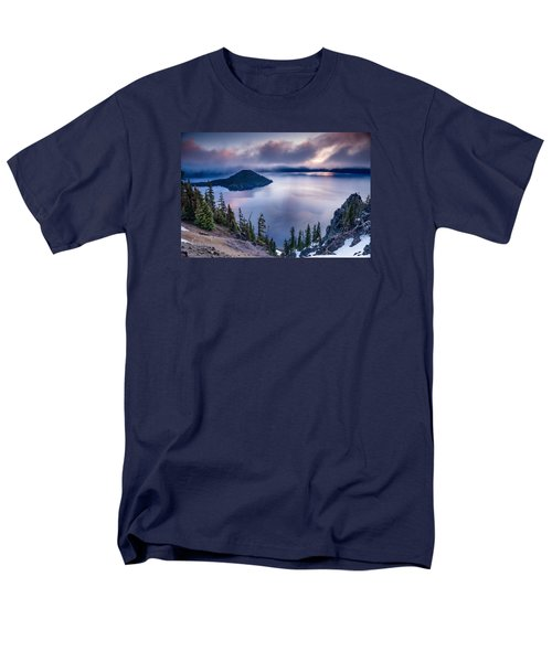 Crater Lake Spring Morning Colors Men's T-Shirt  (Regular Fit) by Greg Nyquist