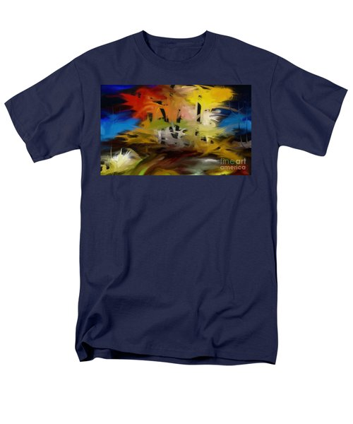 Men's T-Shirt  (Regular Fit) featuring the painting Crazy Nature by Rushan Ruzaick