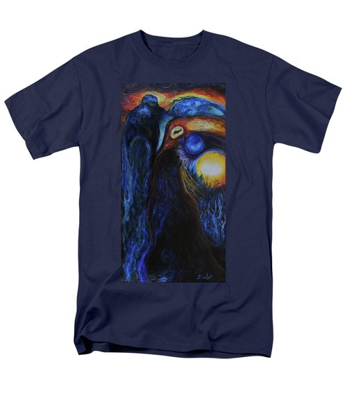 Men's T-Shirt  (Regular Fit) featuring the painting Creeping Plague by Christophe Ennis