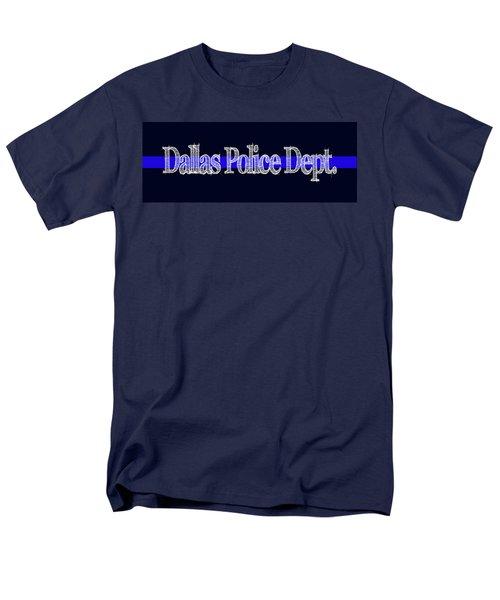 Dallas Police Dept. Blue Line Mug Men's T-Shirt  (Regular Fit) by Robert J Sadler