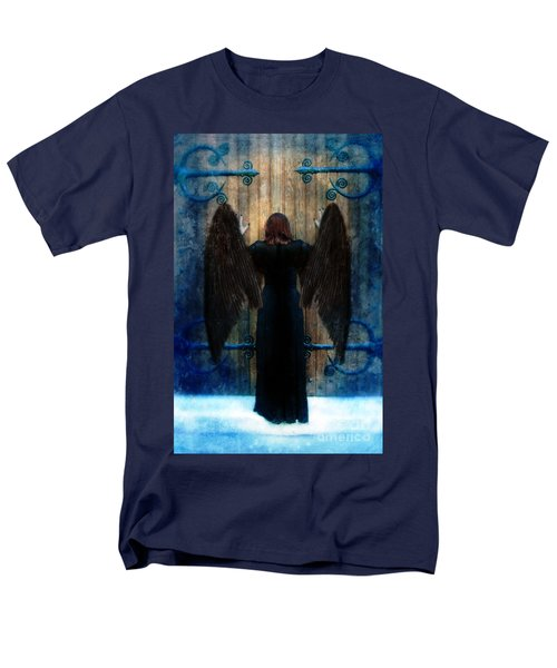 Dark Angel At Church Doors Men's T-Shirt  (Regular Fit) by Jill Battaglia