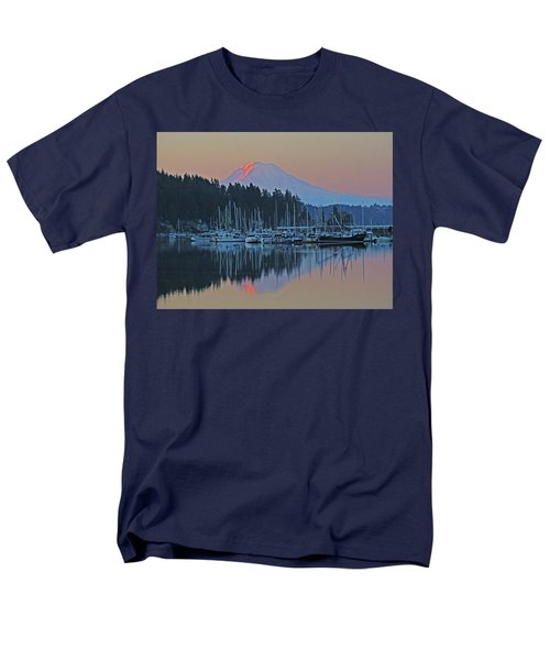 Men's T-Shirt  (Regular Fit) featuring the photograph Dawn At Gig Harbor by Jack Moskovita