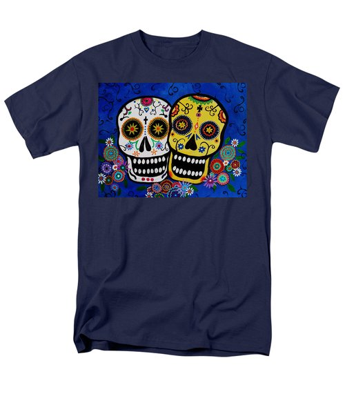 Men's T-Shirt  (Regular Fit) featuring the painting Day Of The Dead Sugar by Pristine Cartera Turkus