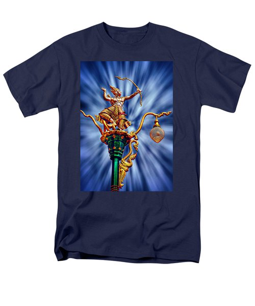 Decorative City Lamp Post Khon Kaen-thailand Men's T-Shirt  (Regular Fit) by Ian Gledhill