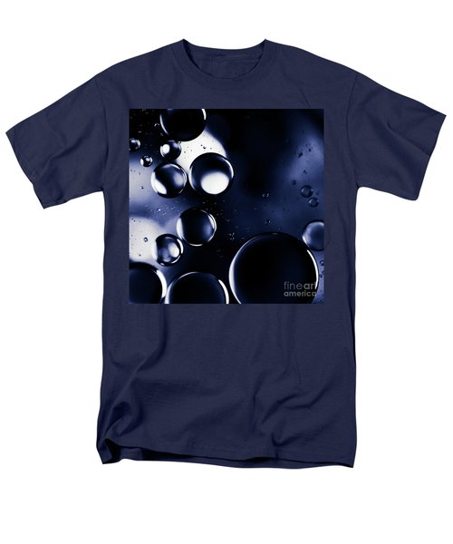 deep purple blue tones Macro Water Droplets Men's T-Shirt  (Regular Fit) by Sharon Mau