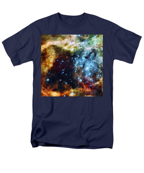 Deep Space Fire And Ice 2 Men's T-Shirt  (Regular Fit) by Jennifer Rondinelli Reilly - Fine Art Photography