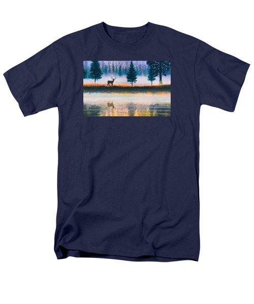 Deer Morning Men's T-Shirt  (Regular Fit) by Douglas Castleman