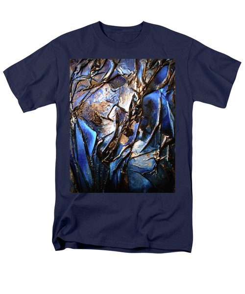 Men's T-Shirt  (Regular Fit) featuring the mixed media Depth by Angela Stout