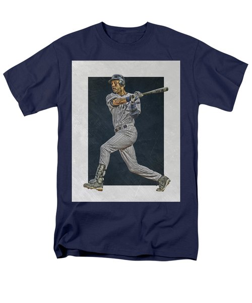 Derek Jeter New York Yankees Art 2 Men's T-Shirt  (Regular Fit) by Joe Hamilton