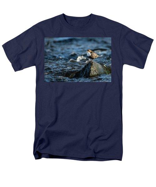 Dipper On The Rock Men's T-Shirt  (Regular Fit) by Torbjorn Swenelius