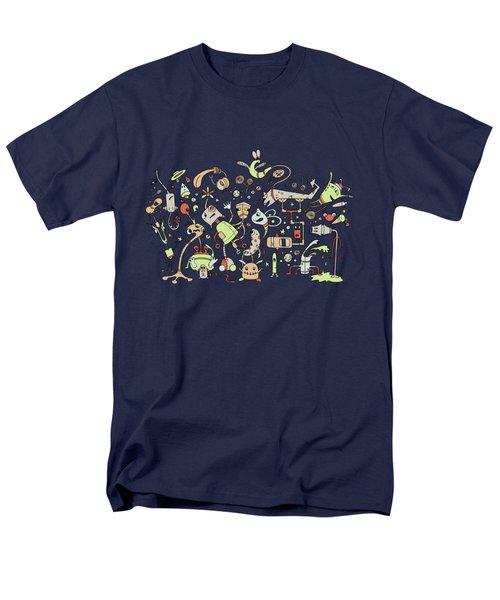 Doodle Bots Men's T-Shirt  (Regular Fit) by Dana Alfonso