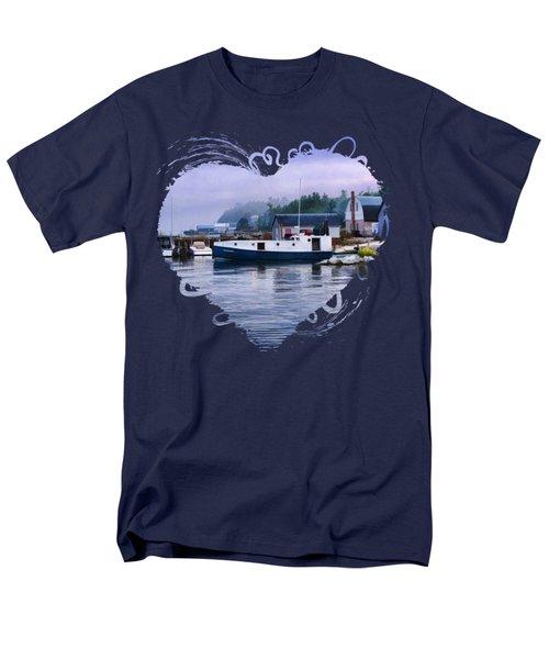 Door County Gills Rock Fishing Village Men's T-Shirt  (Regular Fit)