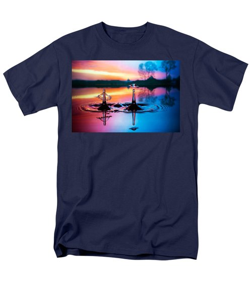 Men's T-Shirt  (Regular Fit) featuring the photograph Double Liquid Art by William Lee