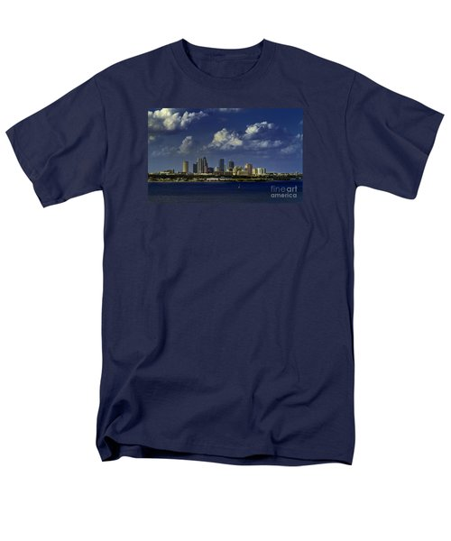 Men's T-Shirt  (Regular Fit) featuring the photograph Down Town Tampa by Ken Frischkorn