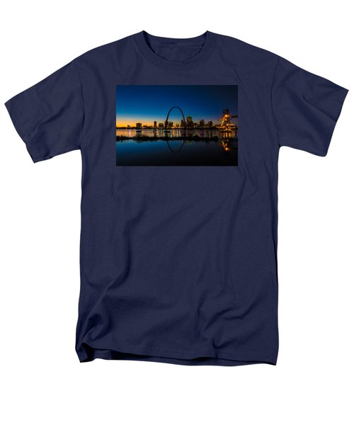 Downtown St. Louis And The Gateway Arch Men's T-Shirt  (Regular Fit) by Matthew Chapman