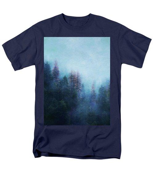 Men's T-Shirt  (Regular Fit) featuring the digital art Dreamy Winter Forest by Klara Acel