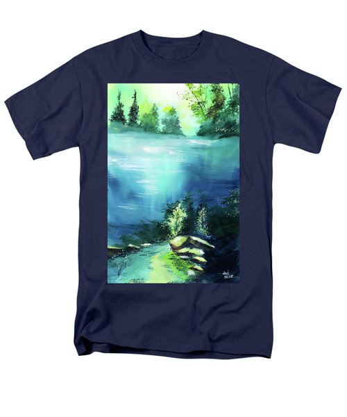 Men's T-Shirt  (Regular Fit) featuring the painting Duality by Anil Nene