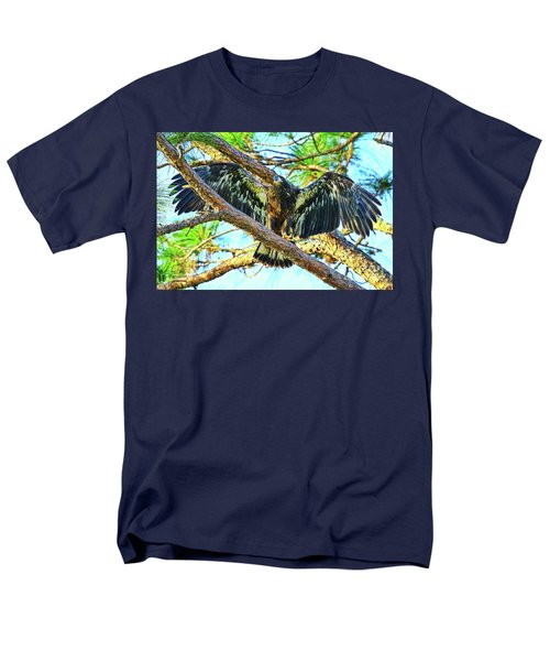 Men's T-Shirt  (Regular Fit) featuring the photograph Eagle Fledgling II 2017 by Deborah Benoit