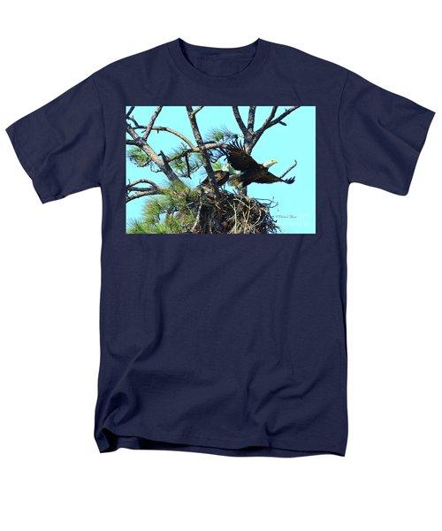 Men's T-Shirt  (Regular Fit) featuring the photograph Eagle Series The Nest by Deborah Benoit