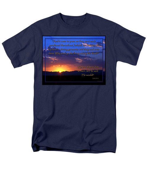 Men's T-Shirt  (Regular Fit) featuring the photograph Easter Sunrise - He Is Risen by Glenn McCarthy Art and Photography