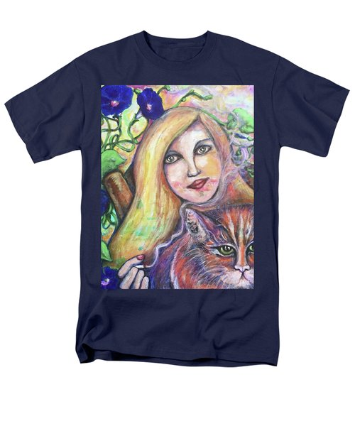 Men's T-Shirt  (Regular Fit) featuring the painting Eazybreezylazy Sunday by Rae Chichilnitsky