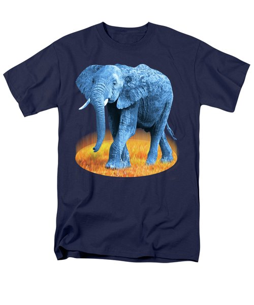 Men's T-Shirt  (Regular Fit) featuring the photograph Elephant - World On Fire by Gill Billington