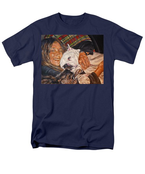Men's T-Shirt  (Regular Fit) featuring the painting Elvis And Friend by Bryan Bustard