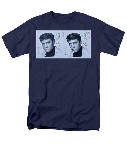 Elvis Stamps Men's T-Shirt  (Regular Fit) by Caroline Stella