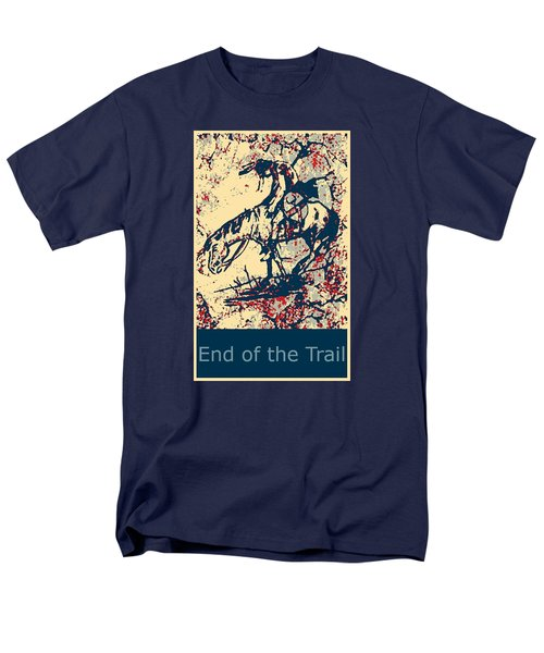 Men's T-Shirt  (Regular Fit) featuring the painting End Of The Trail 4 by Ayasha Loya