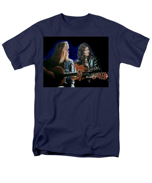 Men's T-Shirt  (Regular Fit) featuring the painting Eva Cassidy And Katie Melua by Bryan Bustard